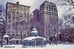 Schneesturm in New York City