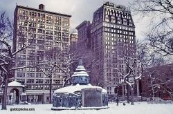 Schneesturm in New York City