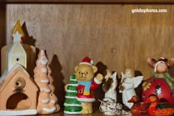 Weihnachtsbär, Hütten, Elch, Engel